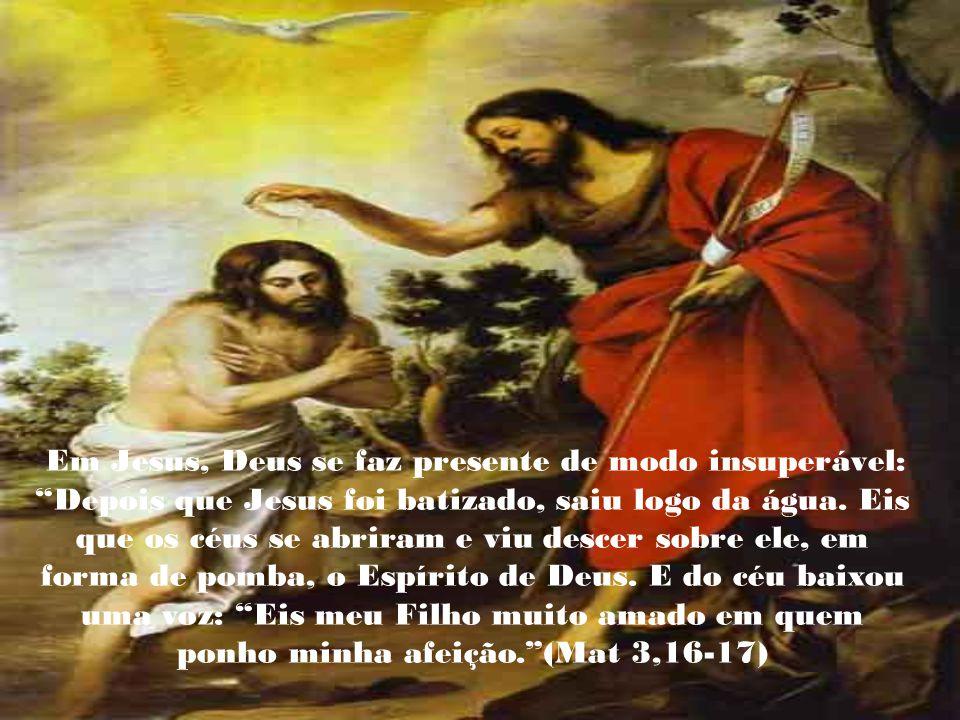 O Batismo de Jesus constitui uma revelação de Deus. Jesus se manifesta, nesse momento, como Filho. Seu gesto é uma manifestação de seu aniquilamento.(