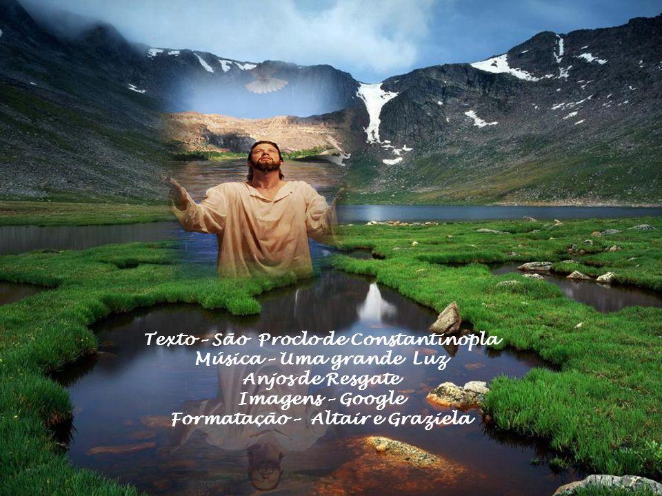No primeiro dilúvio, uma pomba, trazendo no bico um ramo de oliveira, anunciava o odor de suavidade do Cristo; agora, O Espírito Santo, vindo em forma