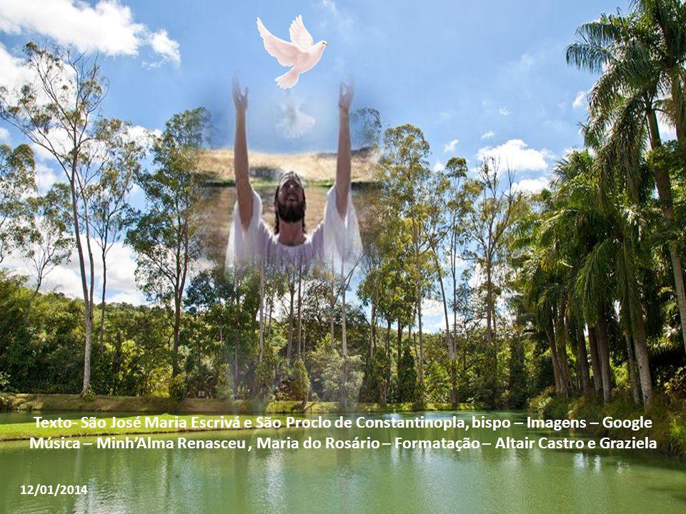 No primeiro dilúvio, a água fez perecer o gênero humano; agora, porém, a água do batismo, pelo poder daquele que foi batizado por João, chama os morto