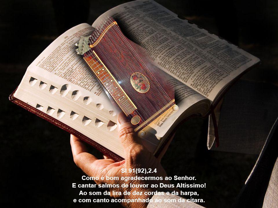 E, no entanto, o santo Profeta lembra-se de salmodiar para a redenção de sua alma, quando diz: Salmodiarei a ti, ó Deus, na cítara, Santo de Israel; a