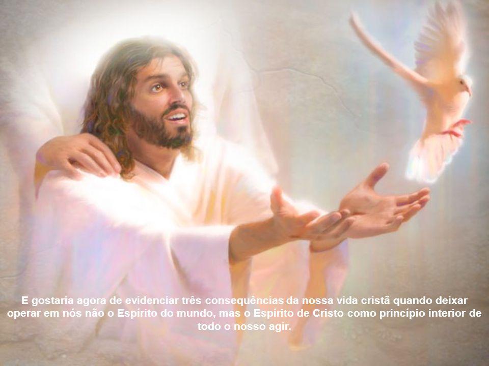 É como se disesse que não somente Deus Pai se fez visível: na Encarnação do Filho, mas também o Espírito de Deus se manifesta na vida e na ação de Jes