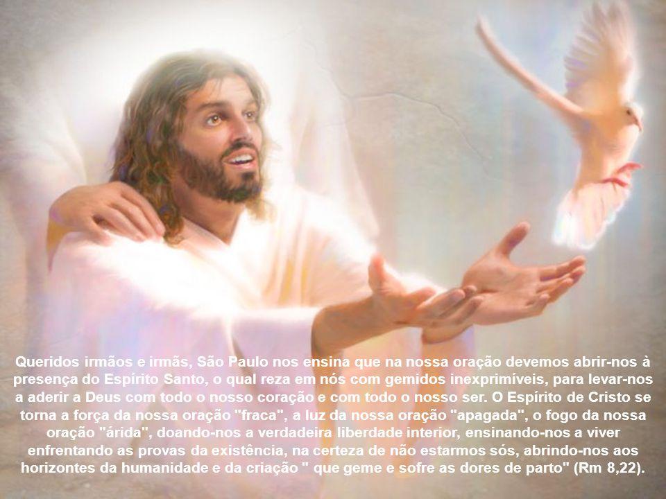 Se torna intercessão pelos outros, e assim liberação de mim, canal de esperança para toda a criação, expressão daquele amor de Deus que foi derramado