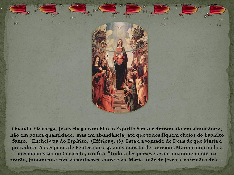 Veja que fato maravilhoso, apenas Isabel ouviu a saudação de Maria, João Batista estremeceu de alegria, ficou cheio do Espírito Santo, Isabel ficou ch