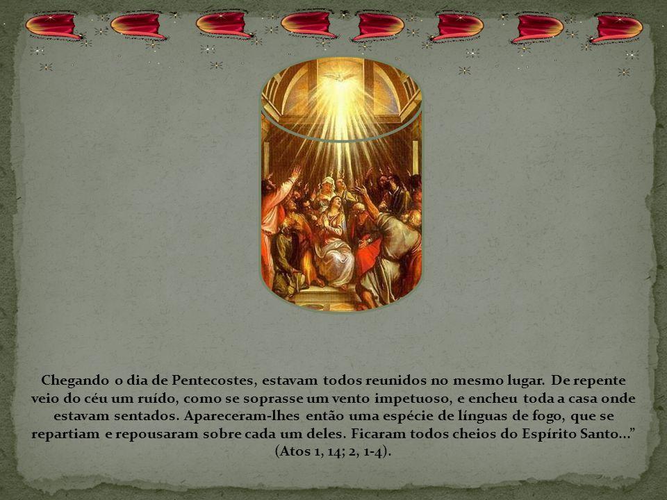 Quando Ela chega, Jesus chega com Ela e o Espírito Santo é derramado em abundância, não em pouca quantidade, mas em abundância, até que todos fiquem c