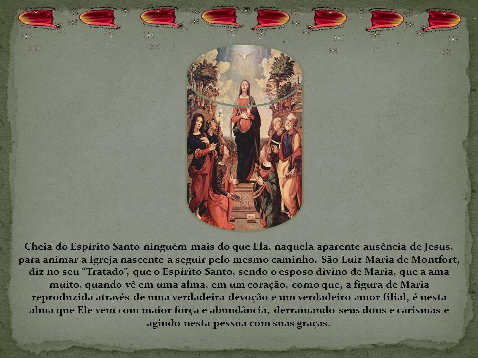 O Concílio sublinha que a Mãe de Deus já é a realização escatológica da Igreja: na Santíssima virgem ela já atingiu a perfeição sem mancha nem ruga qu