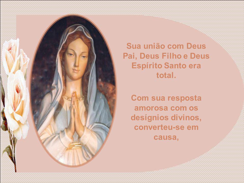 Na Virgem Maria já reinava uma profunda alegria, porque fora concebida sem o pecado original.