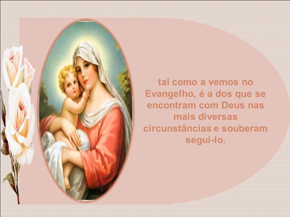 Por isso chamamos a Nossa Senhora Causa de nossa alegria. A alegria verdadeira, aquela que perdura apesar das contradições e da dor, da nova alegria d