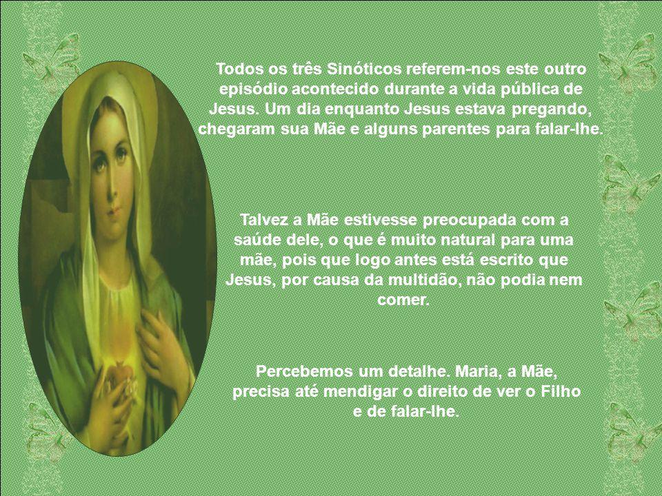 Continuemos, porém. Encontramos uma menção de Maria em Caná na Galiléia, exatamente no momento em que Jesus está começando seu ministério público. Con