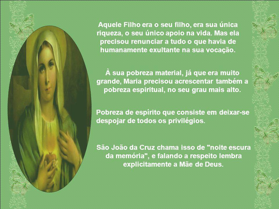 A Kénose de Maria consistiu em deixar-se despojar de seus legítimos direitos de Mãe do Messias, parecendo-se diante de todos uma mulher como as outras
