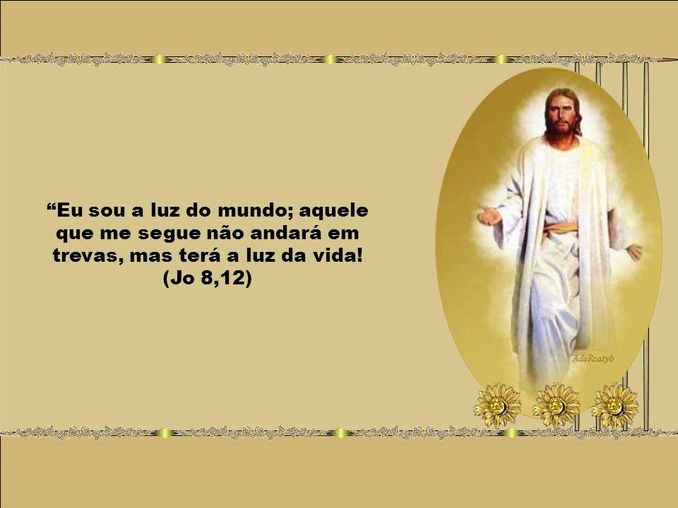Eu sou a luz do mundo; aquele que me segue não andará em trevas, mas terá a luz da vida! (Jo 8,12)