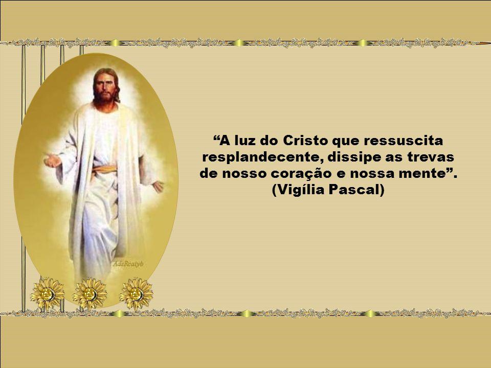 A luz do Cristo que ressuscita resplandecente, dissipe as trevas de nosso coração e nossa mente.