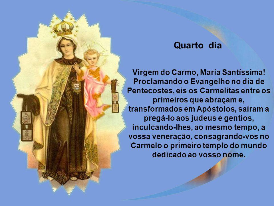 Rainha excelsa e Mãe terna do Carmelo, refúgio de todos os mortais.