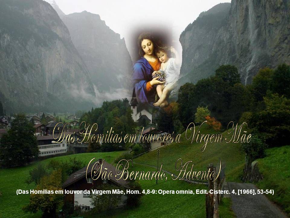 (Das Homilias em louvor da Virgem Mãe, Hom. 4,8-9: Opera omnia, Edit. Cisterc. 4, [1966], 53-54)