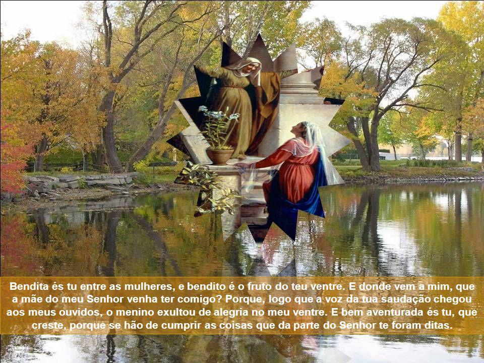 Segundo mistério gozoso do Rosário: a Visitação EVANGELHO DE SÃO LUCAS: E naqueles dias, levantando-se Maria, foi com pressa às montanhas, a uma cidad