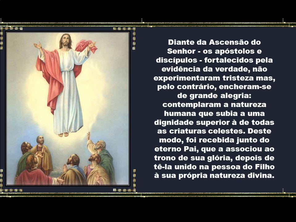 Durante esse tempo – da ressurreição à ascensão – a providência de Deus esforçou-se por ensinar e insinuar não apenas aos olhos mas também aos coraçõe