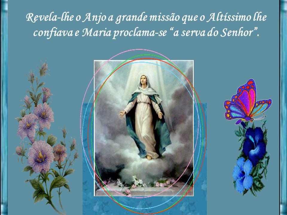 Saúda-a o Anjo: Cheia de graça, e Maria perturba- se. Perturbou-se diz Santo Afonso, porque, estando tão cheia de humildade, aborrecia todo louvor e d