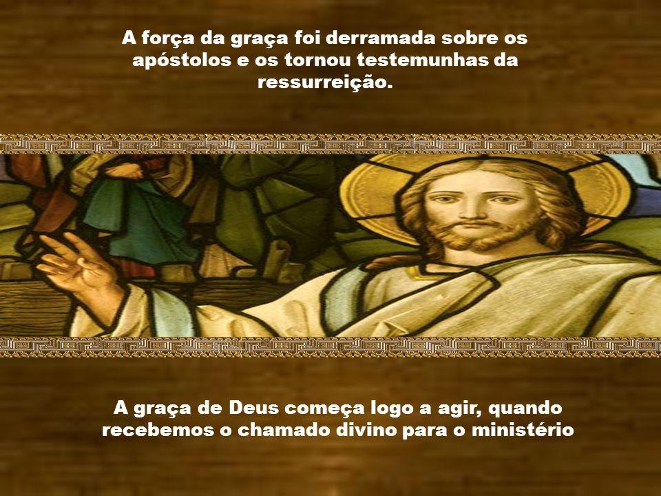 Caríssimos, Ontem a Igreja comemorou a festa de São Matias, Apóstolo. A força da graça em São Matias o fez testemunha do ministério dos apóstolos e da