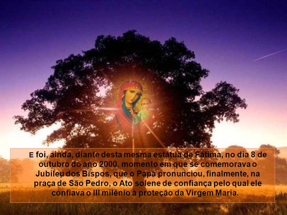 No dia 13 de maio do ano 2000, em Fátima, quando da beatificação dos dois pastorinhos, os irmãos Jacinta e Francisco, Sua Santidade revelou o conteúdo