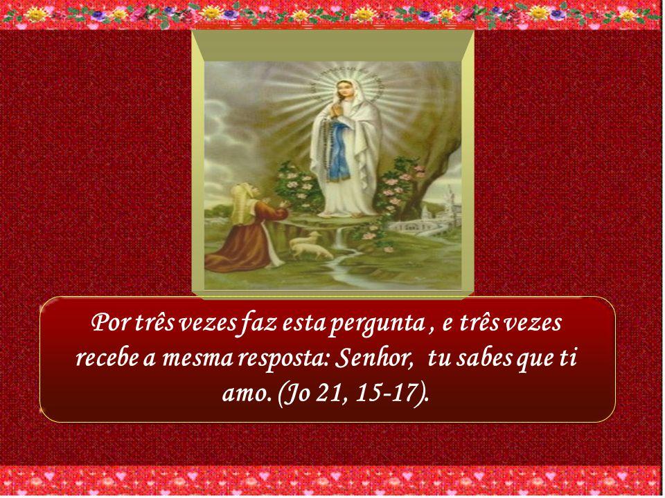 Se houvesse necessidade de um testemunho evangélico disso, encontraríamos no diálogo comovente de Cristo com Pedro: Simão, filho de João, tu me amas?