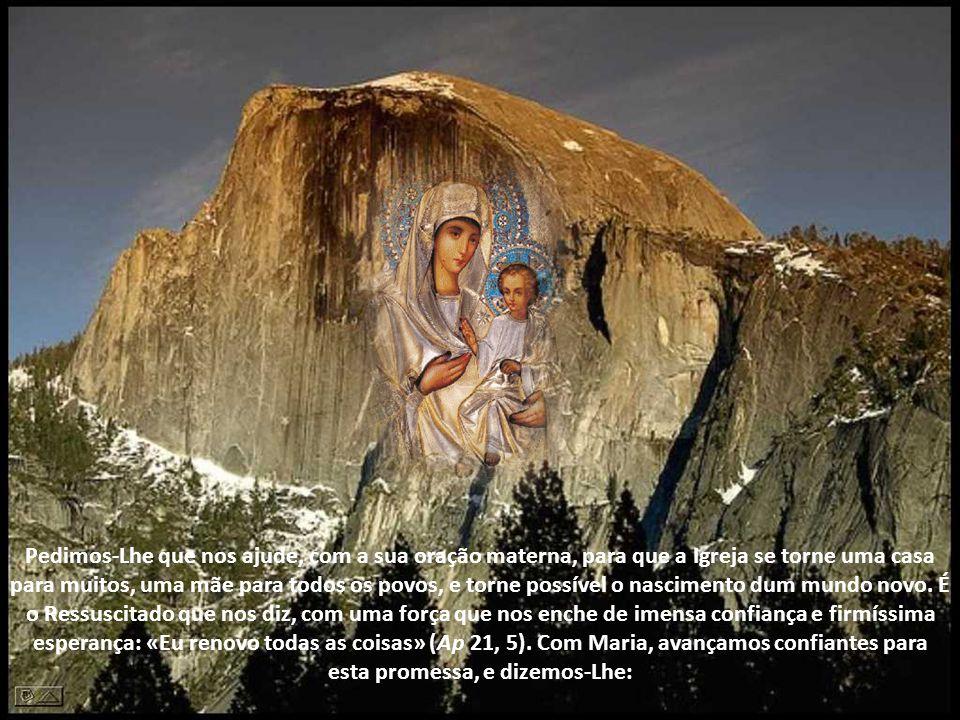 É contemplativa do mistério de Deus no mundo, na história e na vida diária de cada um e de todos. É a mulher orante e trabalhadora em Nazaré, mas é ta