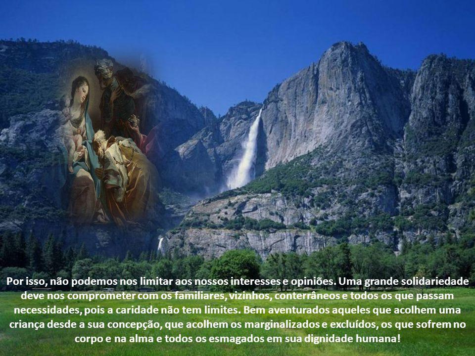 Maria, modelo de Caridade Maria, solícita, partiu para a região montanhosa para visitar sua prima Isabel ( Lc1, 39-40).