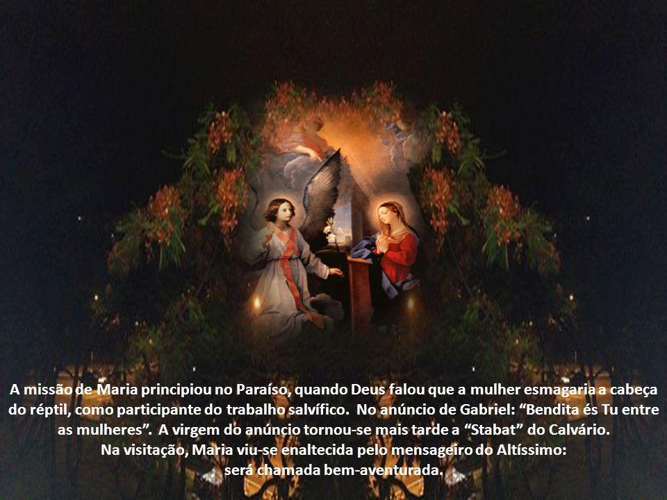 É o Redentor que designa Maria Mãe dos Homens. A tarefa dada a Maria sucede, em momento especialíssimo: quando o Calvário se torna o primeiro Templo d