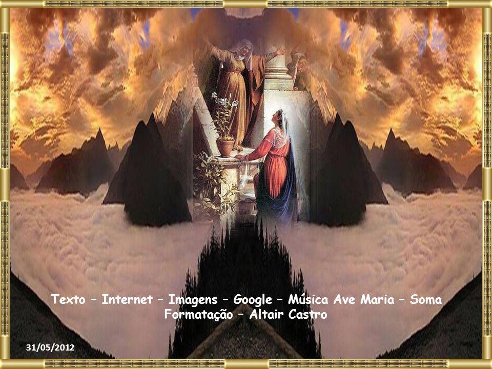 Bendita és tu entre as mulheres e bendito é o fruto do teu ventre! Como posso merecer que a mãe do meu Senhor me venha visitar? Logo que a tua saudaçã
