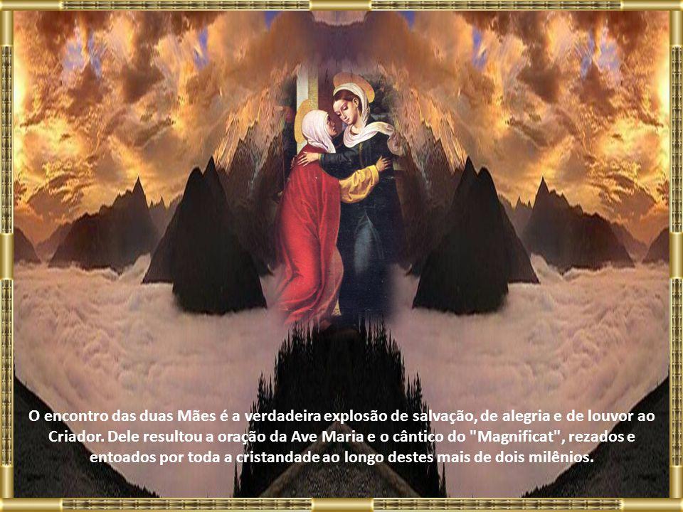 A Bíblia narra que Maria viajou para a casa da família de Zacarias logo após a anunciação do Anjo, que lhe dissera