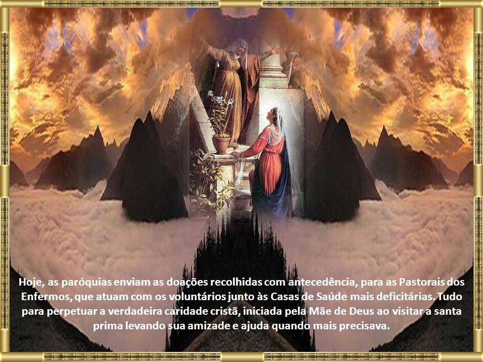 Foi assim que este culto chegou ao Brasil Colônia, primeiro na Casa de Misericórdia do Rio de Janeiro, depois se disseminou por todo território brasil