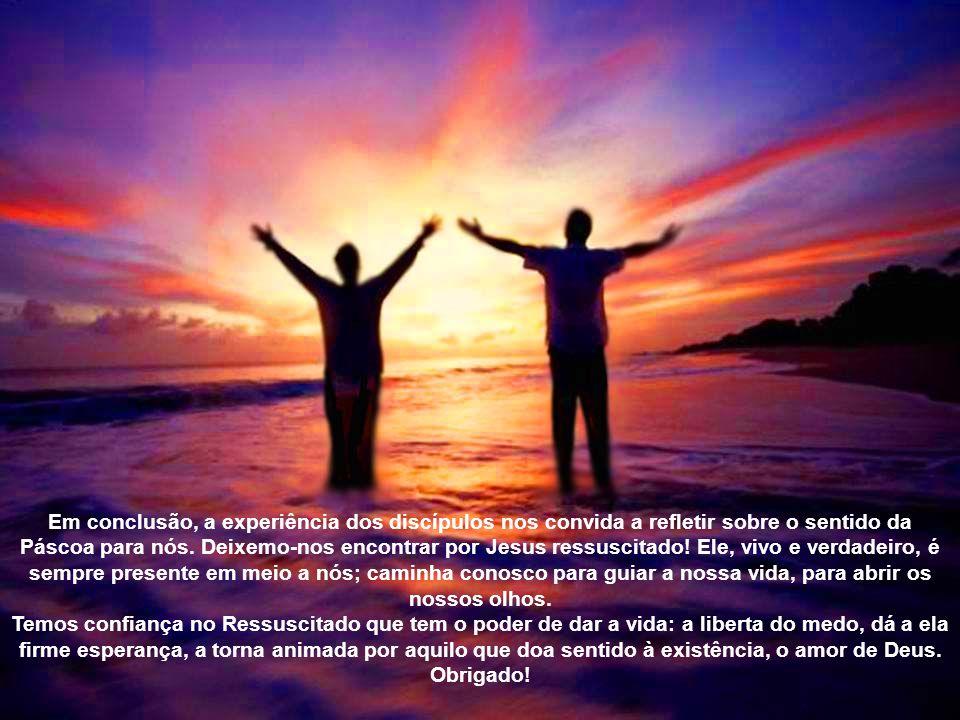 Caros amigos, o tempo pascal seja para todos nós uma ocasião propícia para redescobrir com alegria e entusiasmo as fontes da fé, a presença do Ressusc