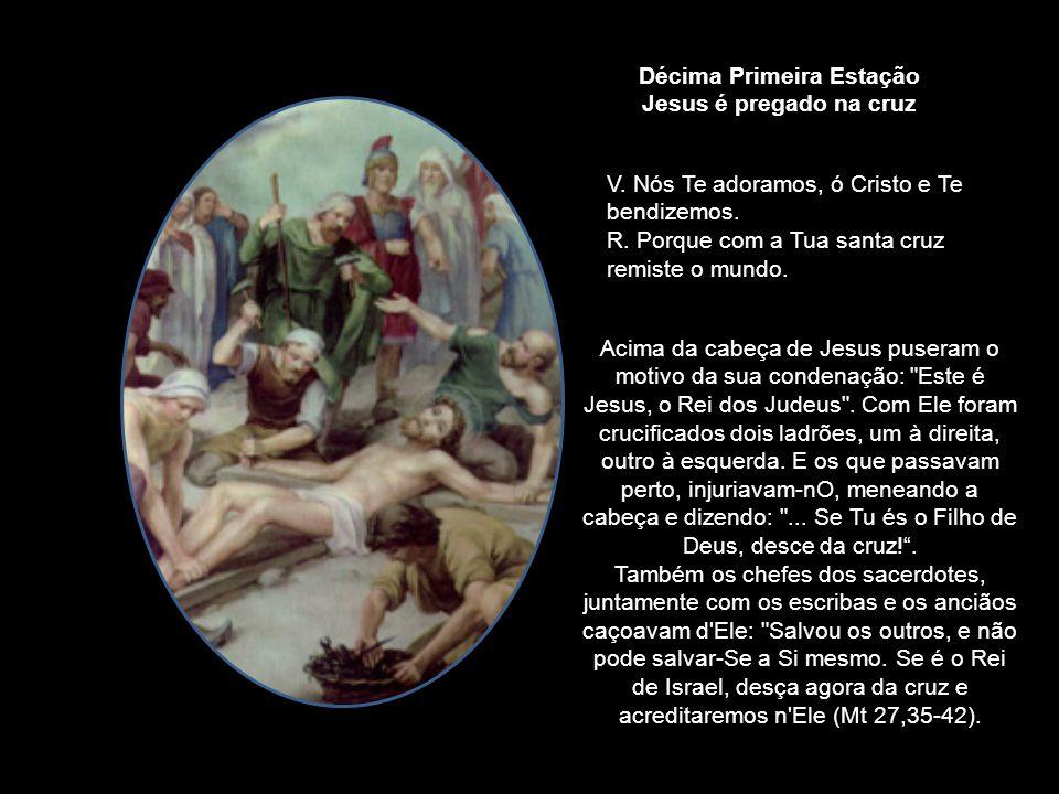 Chegados a um lugar chamado Gólgota... deram-Lhe a beber vinho misturado com fel... (Mt 27,33-34) Depois de crucificarem Jesus, os soldados dividiram