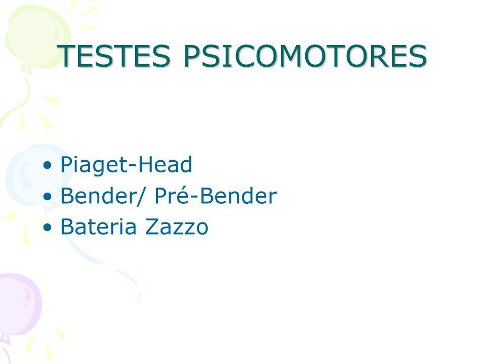 TESTES PSICOMOTORES Piaget-Head Bender/ Pré-Bender Bateria Zazzo