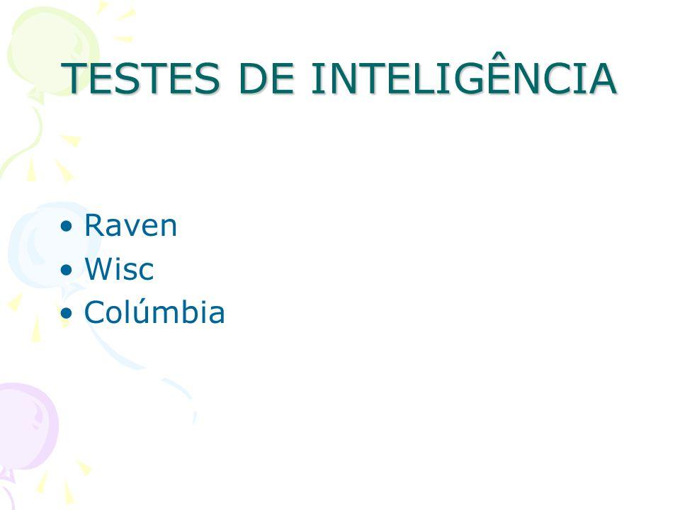 TESTES DE INTELIGÊNCIA Raven Wisc Colúmbia