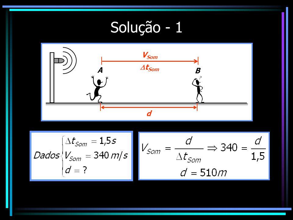 Solução - 1 A B V Som t Som d