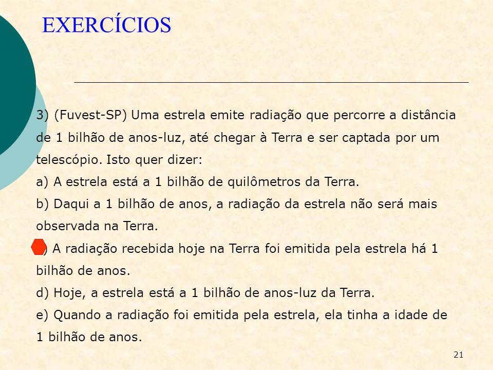 20 EXERCÍCIOS 2) (ITA) Dos objetos citados a seguir, assinale aquele que seria visível em uma sala perfeitamente escura. a) um espelho; b) qualquer su