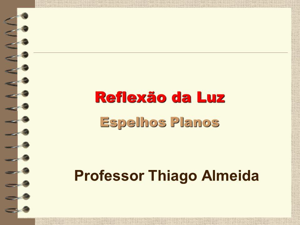 Reflexão da Luz Reflexão da Luz Espelhos Planos Espelhos Planos Professor Thiago Almeida