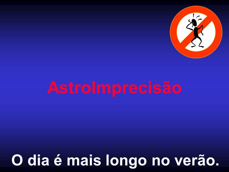 AstroImprecisão O dia é mais longo no verão.
