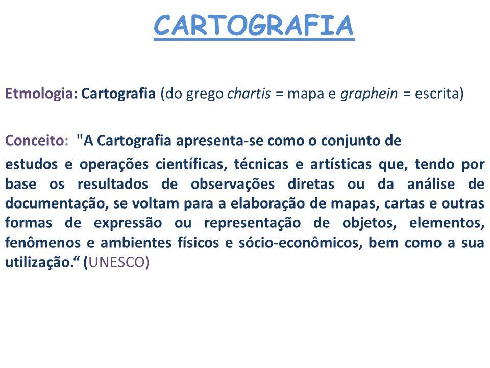 CARTOGRAFIA Natureza da Cartografia Comunicação Informações; Idéias; Habilidades; Palavras; Imagens; Figuras; Gráficos CARTOGRAFIA