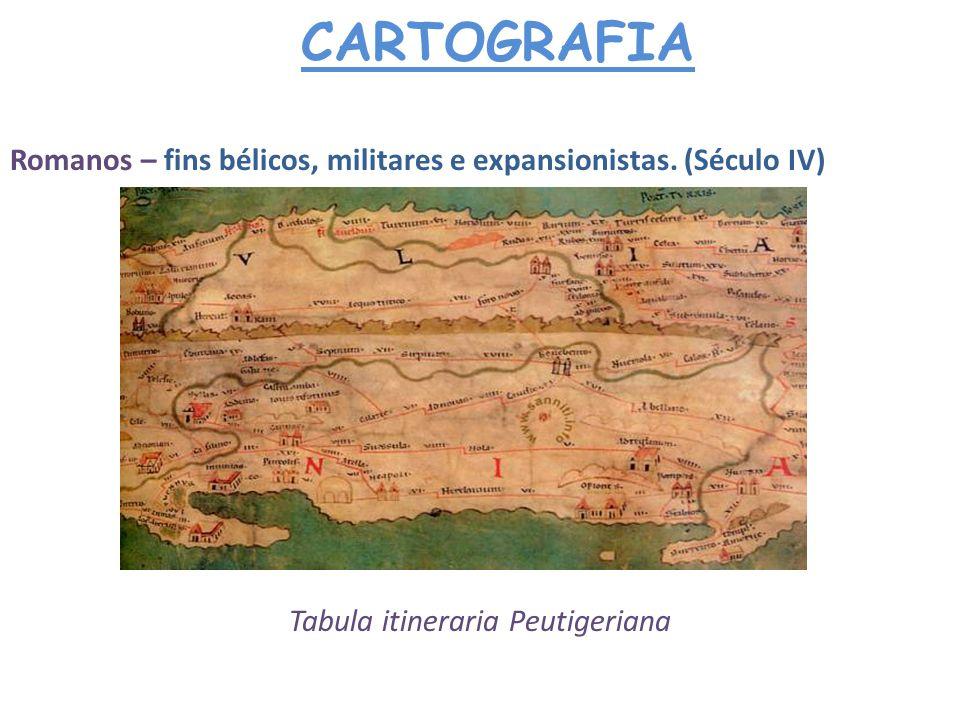 CARTOGRAFIA Idade Média – retrocesso na Cartografia (Sec.IV – XV) utilizada como um suplemento ilustrativo de textos liturgicos, de livros sagrados, e trabalhos de cunho histórico-geográficos.