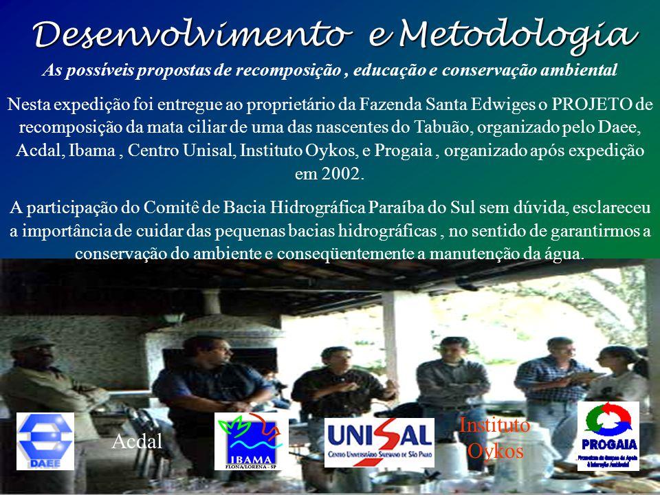Desenvolvimento e Metodologia A ação antrópica e o Impacto ambiental Ao fundo se pode ver a ação do homem, mares de morros desmatados, ao longo da his