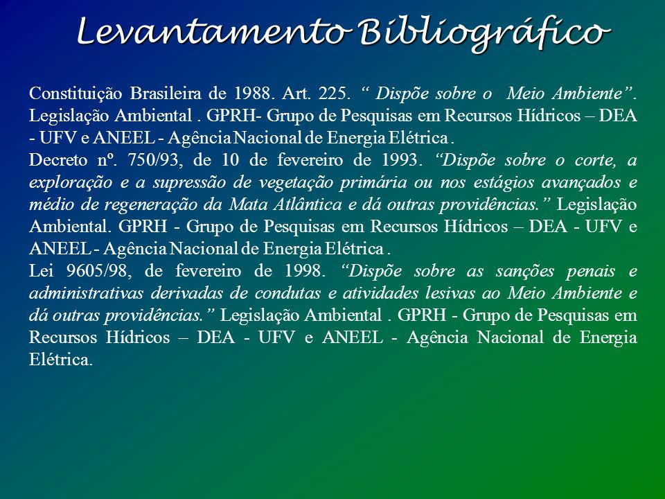 Levantamento Bibliográfico Lei 4771/65, de 15 de setembro de 1965. Institui o novo Código Florestal. Legislação Ambiental. GPRH- Grupo de Pesquisas em
