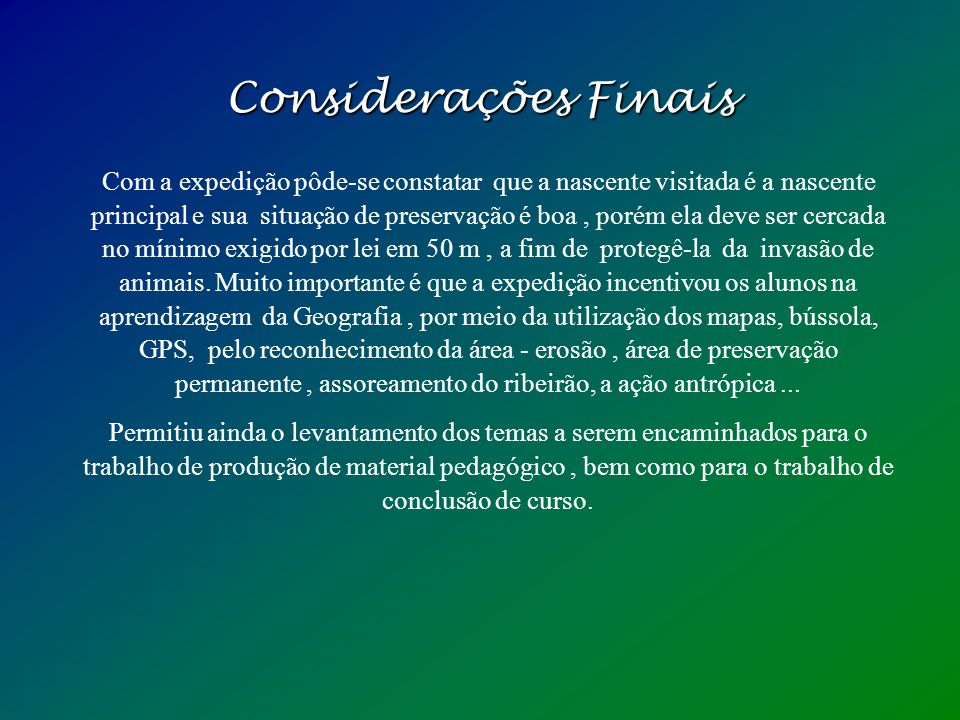 Levantamento Bibliográfico Levantamento Bibliográfico Constituição Brasileira de 1988. Art. 225. Dispõe sobre o Meio Ambiente. Legislação Ambiental. G