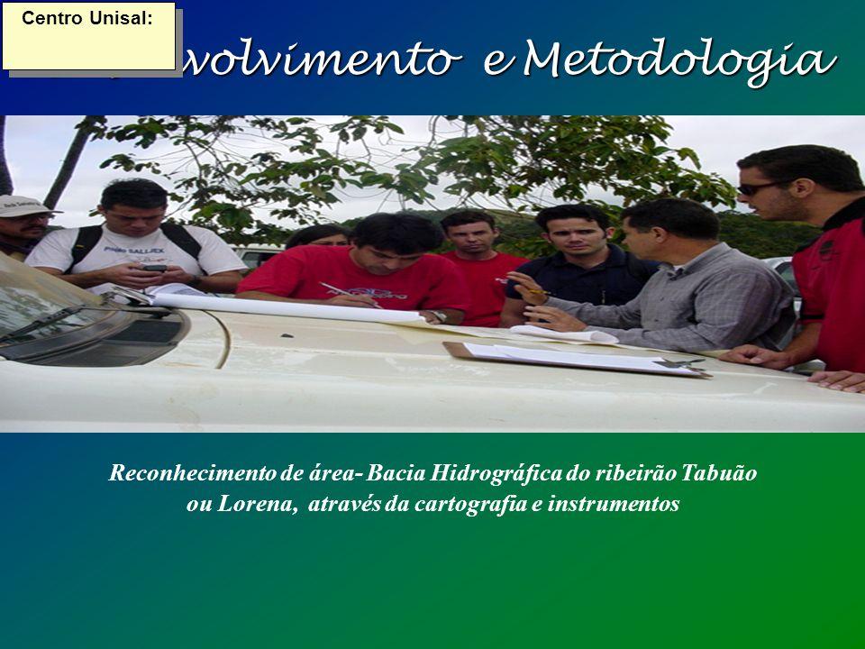 Desenvolvimento e Metodologia Centro Unisal: Reconhecimento de área- Bacia Hidrográfica do ribeirão Tabuão ou Lorena, através da cartografia e instrumentos