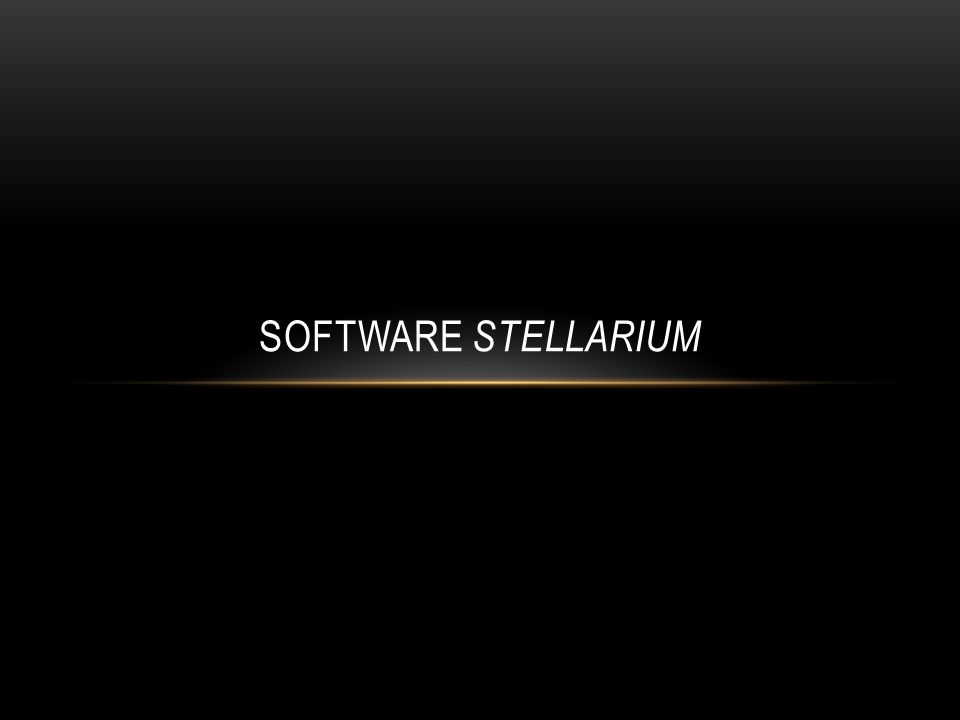 SOFTWARE STELLARIUM