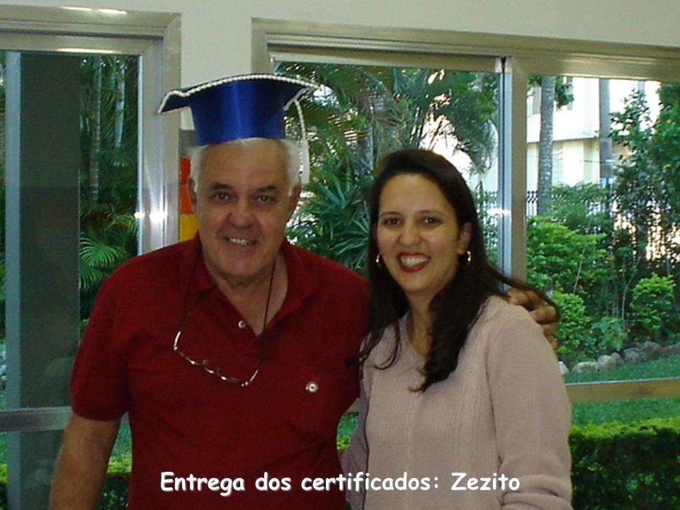 Entrega dos certificados: Zezito