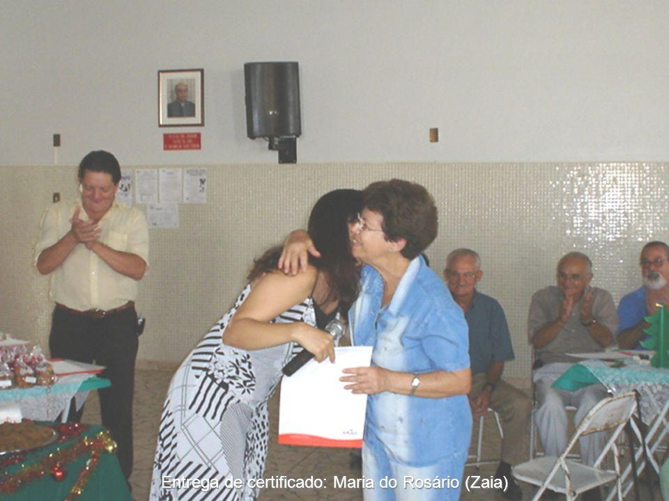 Entrega de certificado: Maria do Rosário (Zaia)