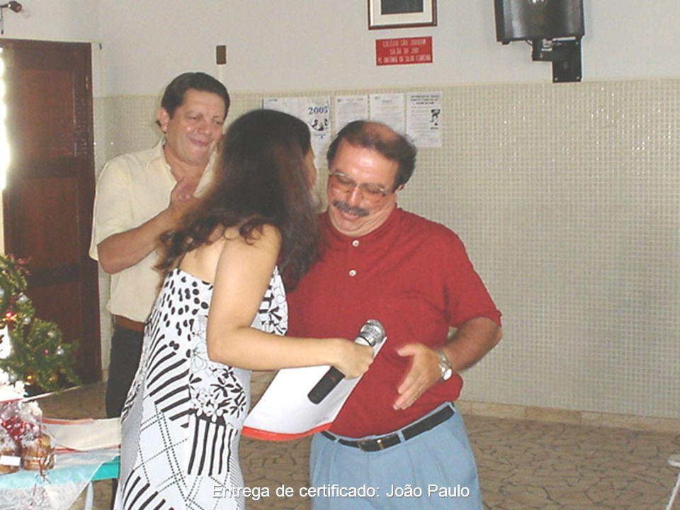 Entrega de certificado: João Paulo
