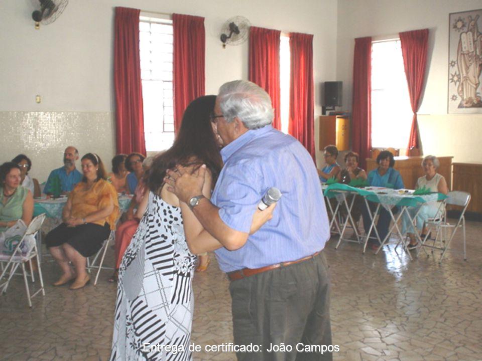 Entrega de certificado: João Campos