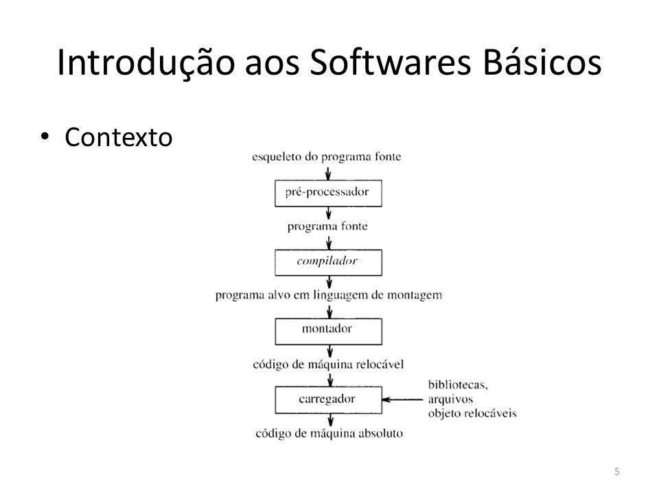 Introdução aos Softwares Básicos Pré-processadores – Produzem as entrada para compiladores – Processamento de macros: usuário define abreviações para construções mais longas – Inclusão de arquivos.