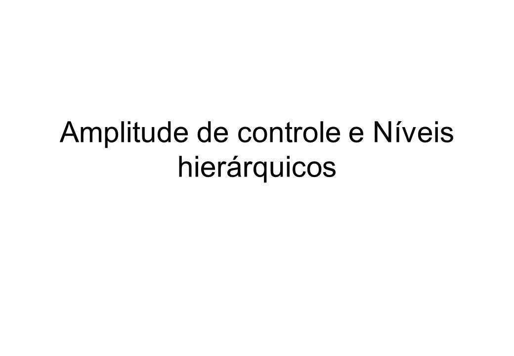 Amplitude de controle e Níveis hierárquicos